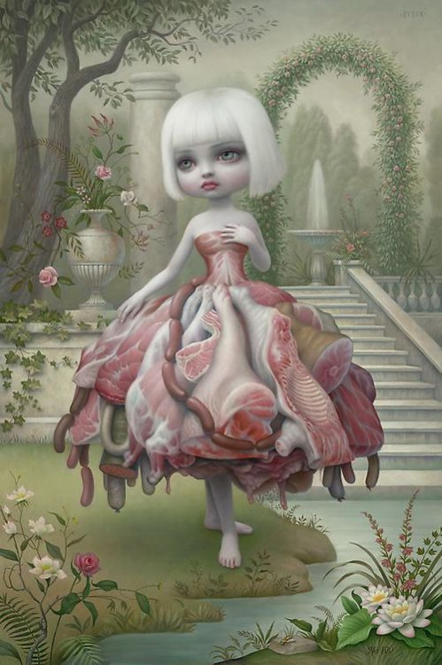 Incarnation - Mark Ryden  The original meat dress…