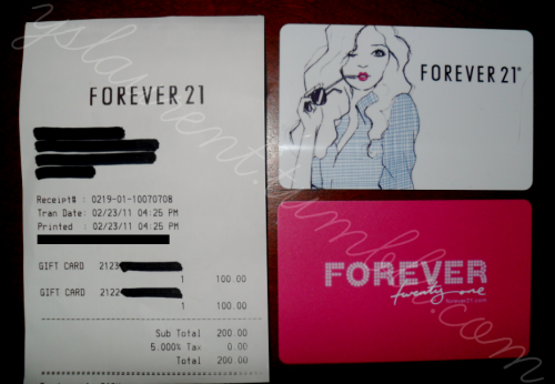 yslaurent:   FOREVER 21 GIFT CARD GIVEAWAY  ENDS ON MARCH 9TH at NOON EST. RULES: You must be following yslaurent.  You must reblog this. You may also like the post. However, reblogging more than once is an automatic disqualification. All tumblrs must be active blogs. I had people create side tumblrs with absolutely no posts in my previous giveaways. They will not be counted in the giveaway. Anybody can enter, including outside of the United States. WINNERS: 2 winners will be picked by using  a random number generator on March 9th. Winners will be notified and announced on March 9th. Winners will have 24 hours to message me back with their address. Before asking me ANY questions including why I am doing this giveaway, read the information given here: http://yslaurent.tumblr.com/f21