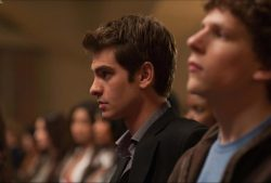 Andrew Garfield as Eduardo Saverin in The Social Network.