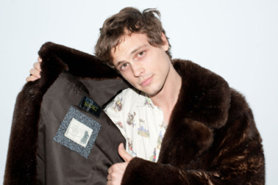 Matthew Gray Gubler wearing one of Edward's fur coats photographed by Terry Richardson.