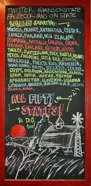 Amazing. All 50 states, DC, plus multiple countries showing love for what Wisconsinites are doing. Thank you WORLD.