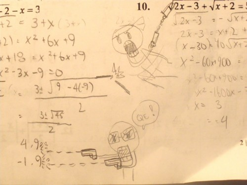 flyingincrediblerapenergy:  What I do during math class  I LOVE IT.