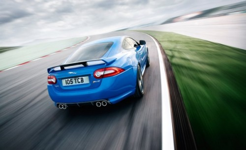 The 2012 Jaguar XKR-S produces 550 bhp and 502 lb.-ft. of torque, thanks  to a higher output version of the company's supercharged 5.0-liter V-8  engine. According to Jaguar, the XKR-S can accelerate from 0 to 60 mph in 4.2 seconds and reach a top speed of 186 mph.