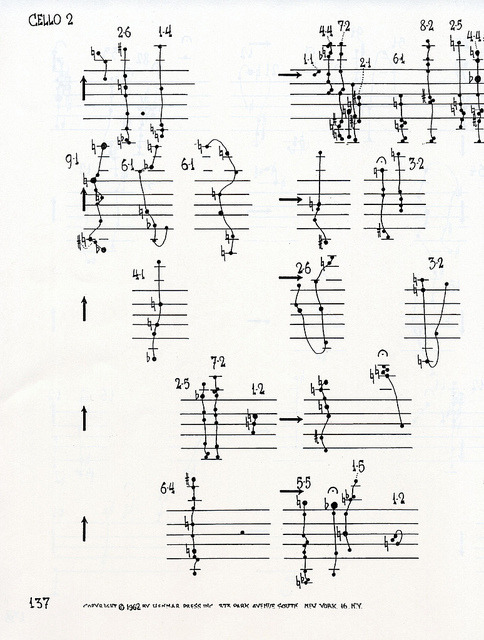 alteredzones:  john cage / cello 2 / 1962 / via theavantgardener