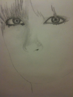 Continued progress… Each eye is the size of my hand. Literally.  I love working big like this.