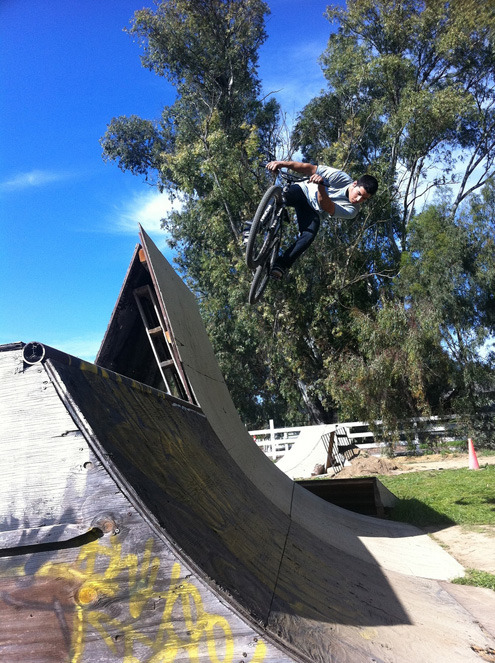 Matt Montoya at the Wheel Talk Compound. Photo by Mark Cosio  -Wizzard
