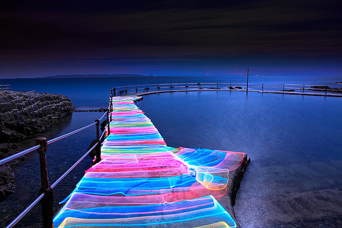 youdontscareme-:  IRL RAINBOW ROAD FROM MARIO KART