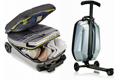 What do you get when you cross a travel bag with a kid's scooter? That question isn't the set-up for a (likely terrible) joke. It's what Samsonite, a century-old luggage company, and Micro Mobility, a European scooter specialist, asked themselves when they sought to develop a carry-on bag with built-in mobility.  The result of the companies' three-year collaboration: the Samsonite Micro Suitcase Scooter.