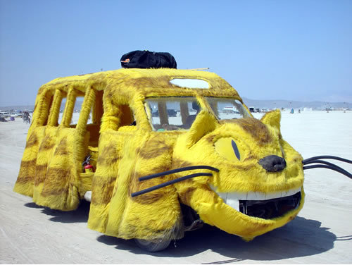 Catbus! For Realz! The only thing better than seeing Catbus drive by me would having Totoro himself walk up to me at the bus stop.