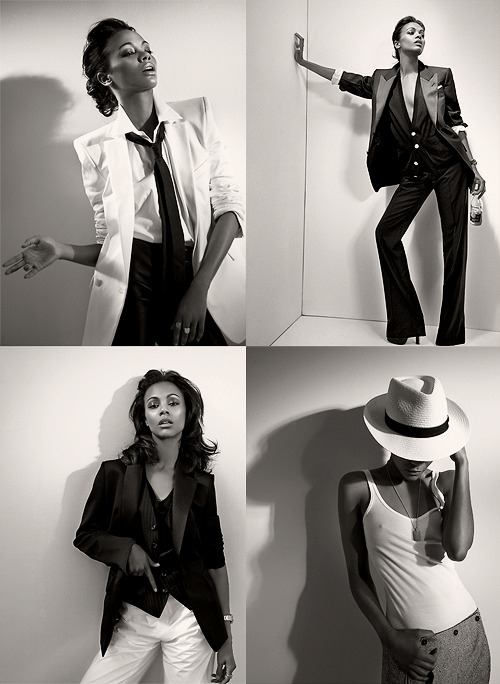 Zoe Saldana for L'Uomo Vogue