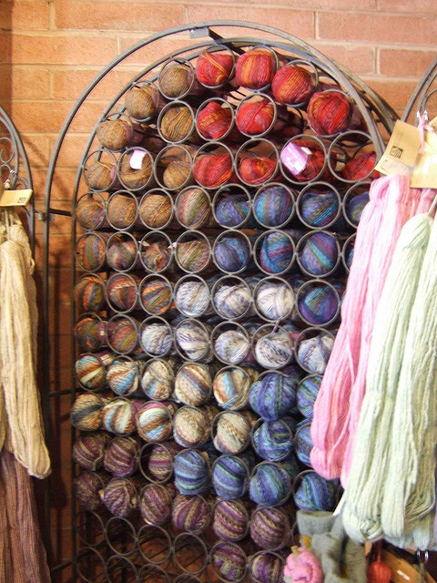 From The Archives Friday storagegeek:  creative storage of yarn (by svm) Love your yarn more than your wine? Than this is the storage idea for you!  This post was posted in February 2011. I still think it is a fantastic idea. Although, I would never have the empty wine space. Just sayin'.