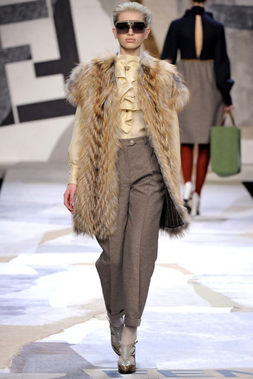 Beautiful, darling little Daph at Fendi A/W 2011.