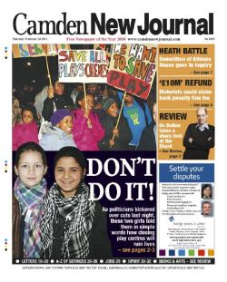 Front page of today's Camden New Journal