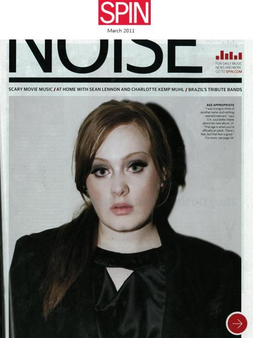 Check out Adele featured in Spin!