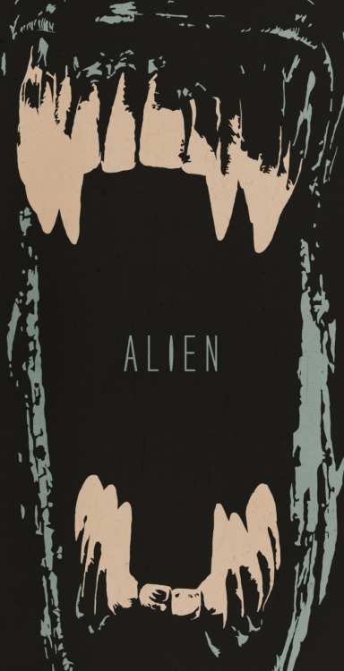 My poster for Alien. I miss those days of random overflowing productivity..