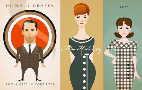 Obsessed with these Mad Men prints from Stanley Chow. (via sfgirlbybay)