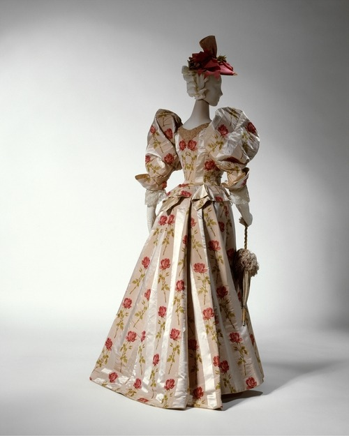 defunctfashion:  DInner Dress | c. 1895 Those Schleeves! The Costume Institute