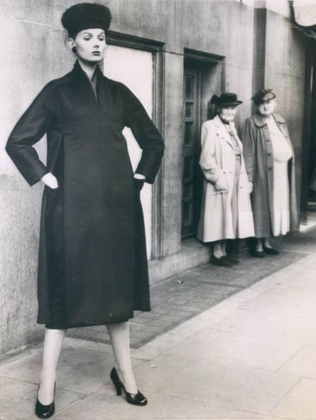Dior fashion modeled by Hilde Moray 1955