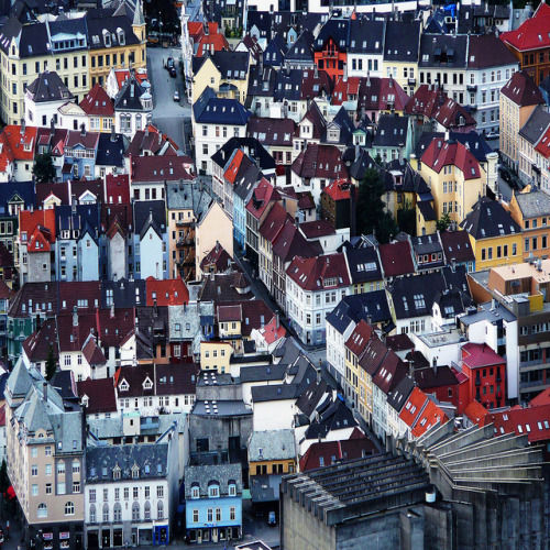 allthingseurope:  Bergen from above, Norway (by Daniela Nobili)