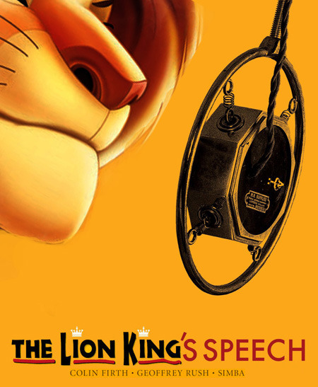 The Lion King's Speech = Disney animated film about lions + Colin Firth drama about King George VI