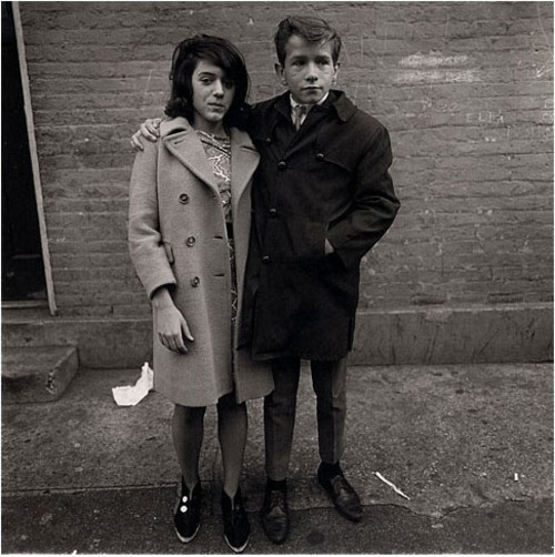 Teenage couple on Hudson Street, N.Y.C.Diane Arbus1963