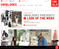 Uniqlo's new fashion community, Uniqlooks http://uniqlooks.uniqlo.com/