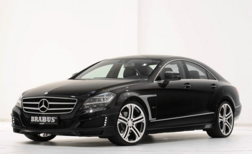 Brabus' range of tuned diesel engines are getting the limelight with the introduction of the 2011 Brabus CLS Coupe. In Sport mode, horsepower jumps from 261 bhp to 309 bhp, while torque  receives a similar bump. Brabus says that this tuned turbodiesel is  capable of sprinting from 0 to 62 mph in only 5.9 seconds. Top speed is  limited to 155 mph.