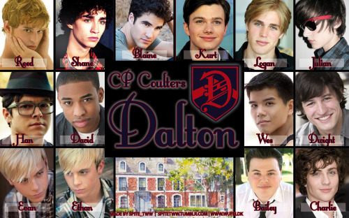 Wallpaper based on CP Coulters Dalton. Size 1260 x 787 px. This was quite difficult to make, I tried as much as possible to cast actual Warblers even if the character isn't a Warbler. Riker got the honor of being both twins, simply because I'd hate to leave him out, yet don't see him as Reed and he fit the twins well apart from there only being one of him. Some were based of fancasts I've seen around. Charlie I found, I had the hardest time with him. Athletic with cornflower blue eyes and messy brown hair. Feel free to comment, suggest changes, etc. Reed: Ashtyn LongShane: Robert SheehanCharlie: Aaron JohnsonJulian: ? If anyone know please tell me, it was a suggestion I saw somewhere and saved to my harddisc.