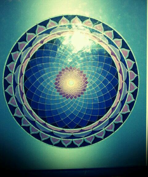 From this vertex center, known as the Sahasraram Chakra, allow the vibration of the sound  current to fill the head and then expand beyond the head into  the surrounding space.
