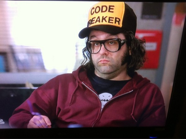 My man Judah Friedlander wears the Sandwich Dinosaur on 30 Rock tonight. Granted, you don't get to see the whole shirt, but I'm still pretty stoked about it!