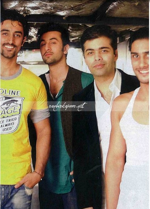 Kunal Kapoor, Ranbir Kapoor, Karan Johar, Prateik Babbar Too hot for words