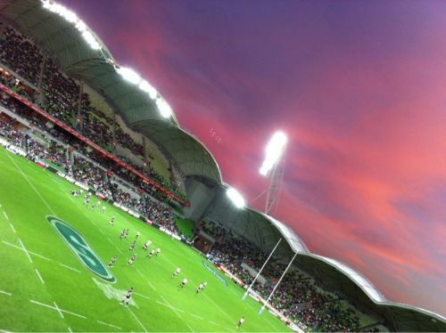 Super Rugby under a gorgeous Melbourne sky. Great way to end the week.