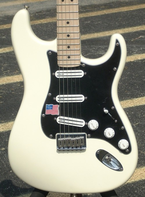 2008 Fender Billy Corgan signature stratocaster with DiMarzio pickups.
