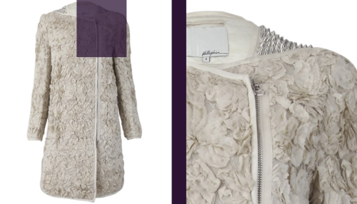 3.1 Phillip Lim cream silk flower studded coat - £1865 at Liberty London