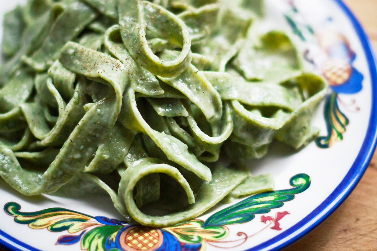 Green Noodle Pasta - Gourmet: February 1960