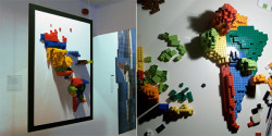 3D infographic maps made with LEGO From Information Aesthetics