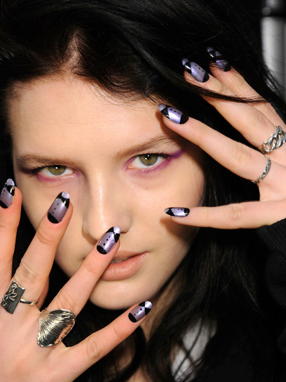 We at Teen Vogue are shamelessly obsessed with nails. For a polish freak, Fashion Week is one of the most exciting times of the year, so we thought we'd share some of the coolest nails we've seen at the shows. Flip through photos of our favorite nail art ideas » The nails at Ruffian. Photo Courtesy of Red PR
