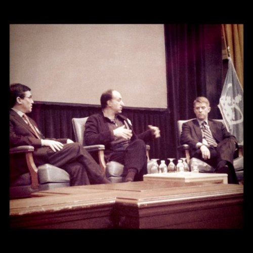 CFOs of Aol and Time Warner on stage together (Taken with Instagram at MBA Media & Entertainment Conference)