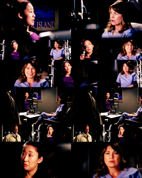 CRISTINA: I mean, he knows I don't want kids. And suddenly, I'm ruining his vision of the future.MEREDITH: Don't talk to me about vision. What if I never get to operate again?CRISTINA: You could be a bartender. I had a very good time.MEREDITH: Oh, yeah. The whole five hours you bartended.CRISTINA: Free drinks.MEREDITH: You stole those drinks. Joe didn't give you free drinks.CRISTINA: Your eyes will clear up. They will.CHIEF: Uh, how's it going?MEREDITH: Oh, good. I'm good.CHIEF: Uh, Metzger's gonna examine you every day. Until he clears you, you don't set a foot in an O.R.MEREDITH: Well, I can't hold a scalpel, but I can observe, right?CHIEF: No, you can't.MEREDITH: Did he just bench me?CRISTINA: Damn.  Grey's Anatomy |7x16| Not Responsible