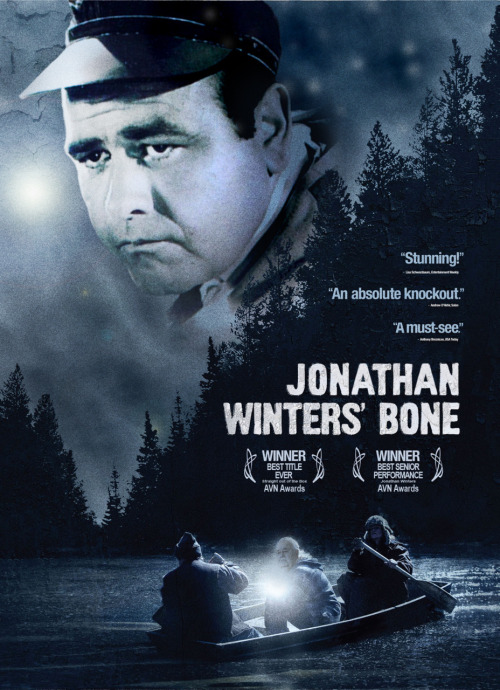 Jonathan Winters' Bone = Actor/comedian/impressionist + Ozark Mountains-set drama (source: Greg K.)