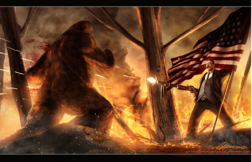 Teddy Roosevelt VS. Bigfoot by ~SharpWriter The top tweeted deviation in the past 24 hours.