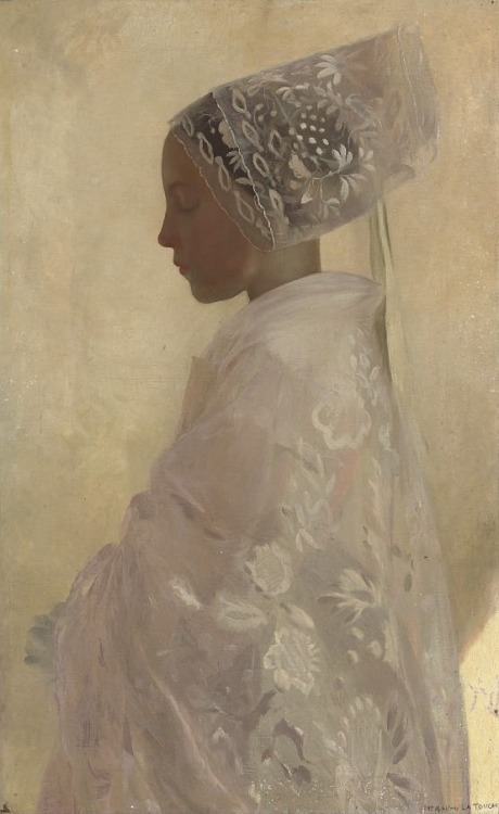 A Maiden in Contemplation, 1898 Gaston La Touche