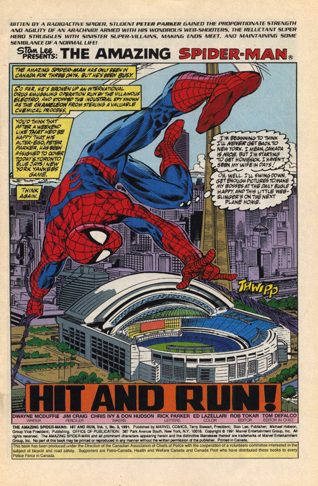 fuckyeahtoronto:  dopeart: toronto featured on spider-man comic