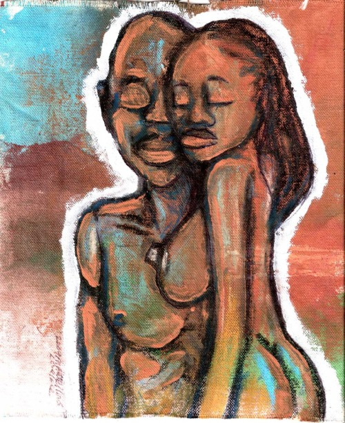 "marcellouslovelace:  ""2009 me and her are one by Marcellous Lovelace"" don't get caught in the belief of man, learn to know what is actual. don't waste your life! learn from you experiences! do you have what you need?"