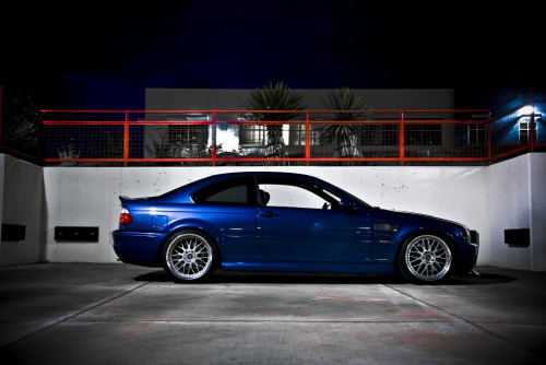 bimmers:  Profile shot of a blue BMW M3 Coupe (via elvnteen)