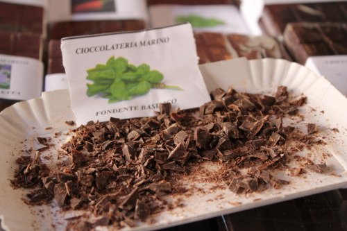 A small tidbit from the chocolate fair, La Fiera del Cioccolato…there were in fact too many pictures and too many types of chocolate to choose from. But, sometimes simplicity is best.