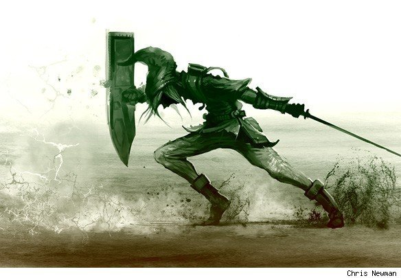 Courage. More Legend of Zelda 25th Anniversary art at comicsalliance.com