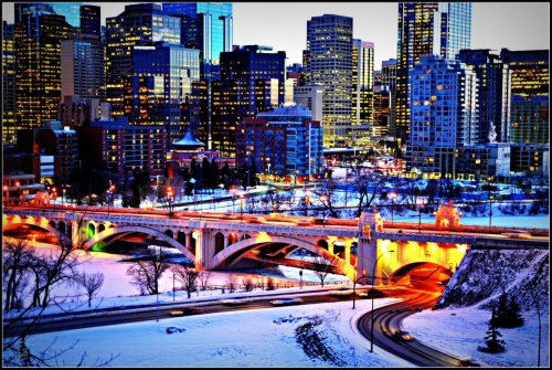 Downtown Calgary taken by my friend Jocelyn =)