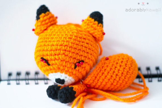 fox amigurumi - work in progress http://www.adorablykawaii.com/http://www.facebook.com/adorablykawaii/http://www.adorablykawaii.etsy.com/