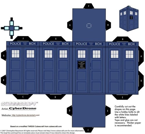 Hi! Just One Charmander!!, Thanks for following.  Here, Make your own TARDIS courtesy of CyberDrone